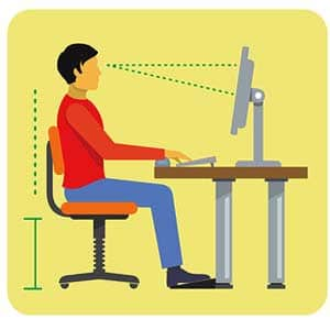 best posture for sitting at desk