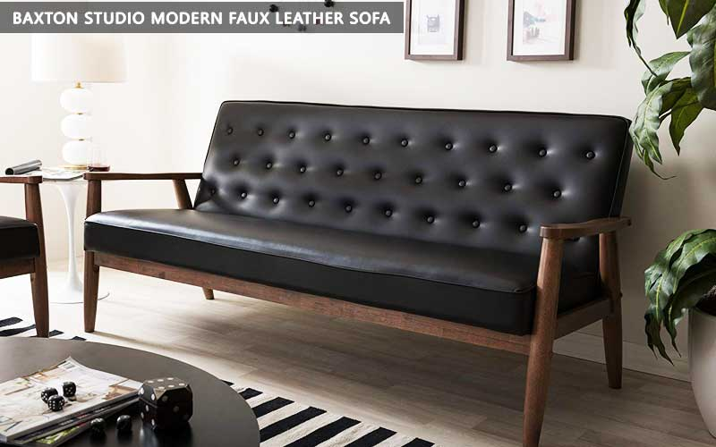 Baxton Studio Modern Faux Leather Sofa review