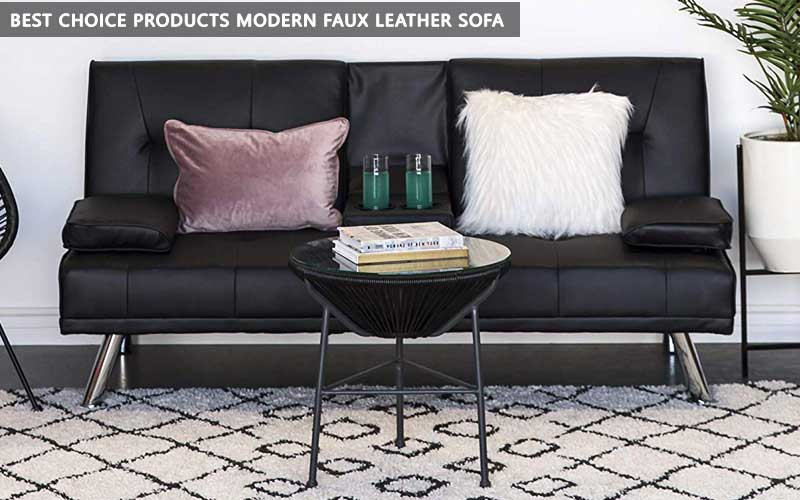 Modern Faux Leather Sofa review