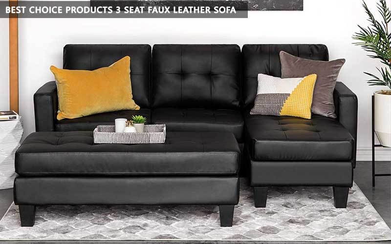 Best Choice Products 3 Seat Faux Leather Sofa review