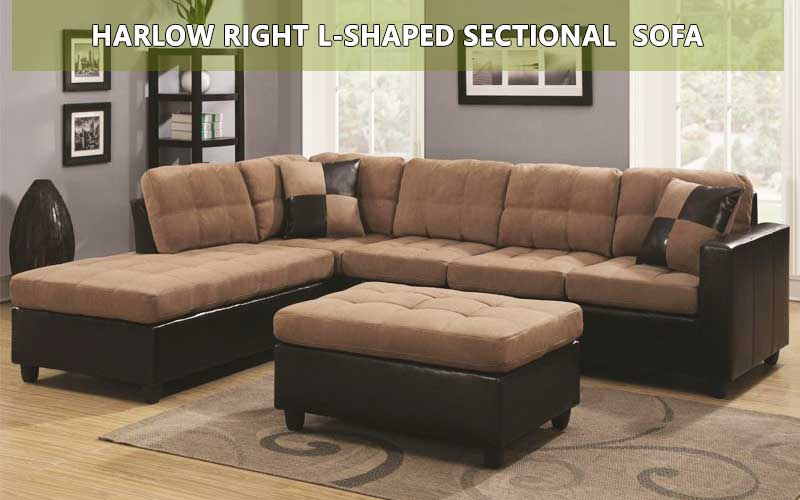 Harlow Right L-Shaped sectional sofa review
