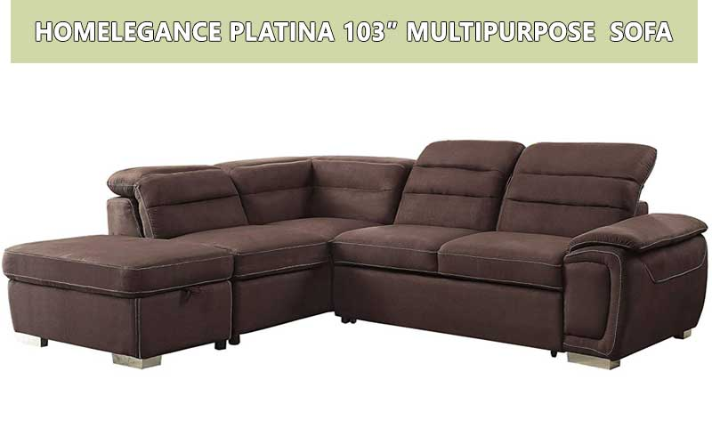 "Homelegance Platina 103"" Multipurpose sectional sofa review"