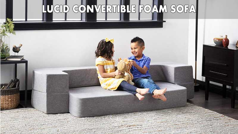 LUCID Convertible Foam Sofa review