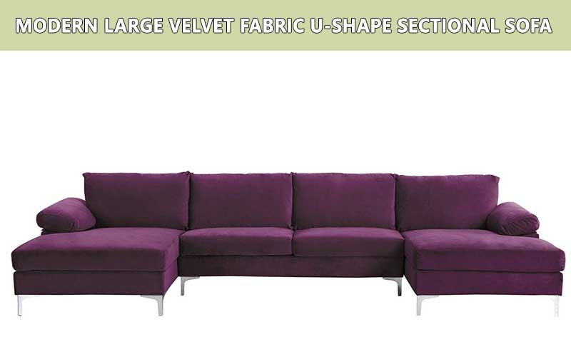 Velvet Fabric U-Shape sectional sofa review