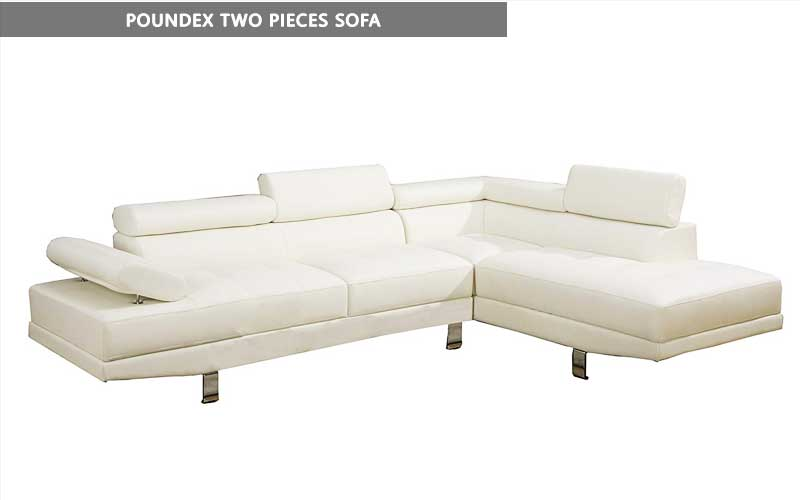 Poundex Two Pieces Sofa review