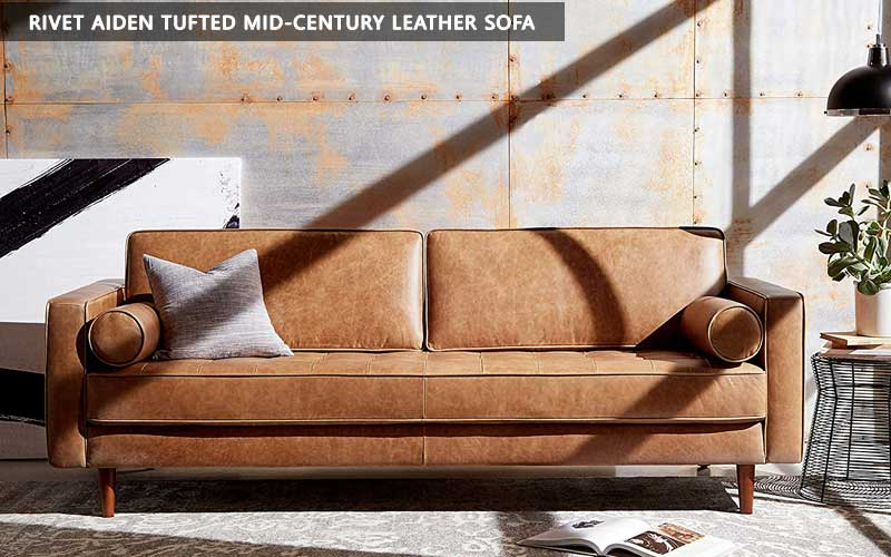 Rivet Aiden Tufted Mid-century Leather Sofa review