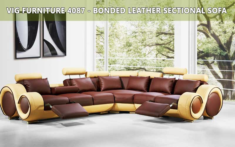 VIG Furniture-4087 Bonded Leather Sectional Sofa review