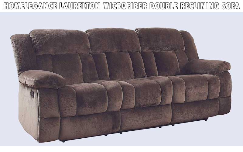 Homelegance Laurelton Microfiber Double Reclining Sofa review