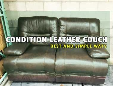 how to Condition Leather Couch