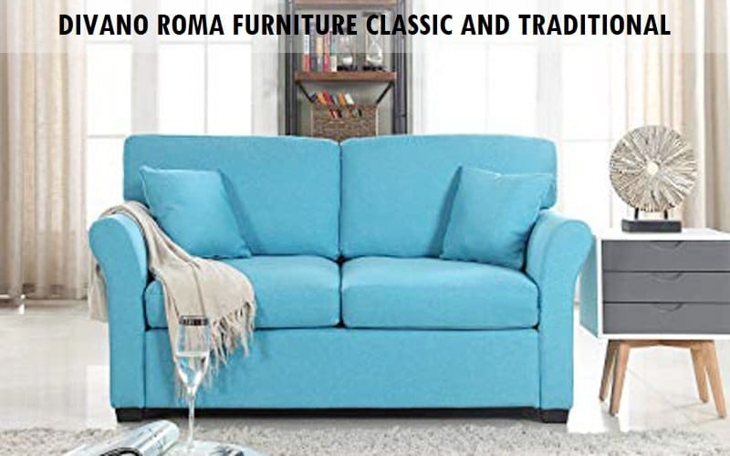 DIVANO ROMA FURNITURE Classic and Traditional Loveseat Review