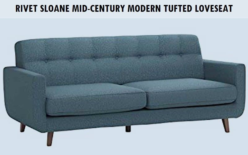 Rivet Sloane Mid-Century Modern Tufted Loveseat Sofa Couch Review