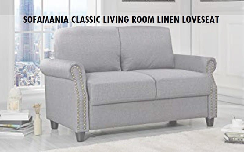 Sofamania Classic Living Room Linen Loveseat Review