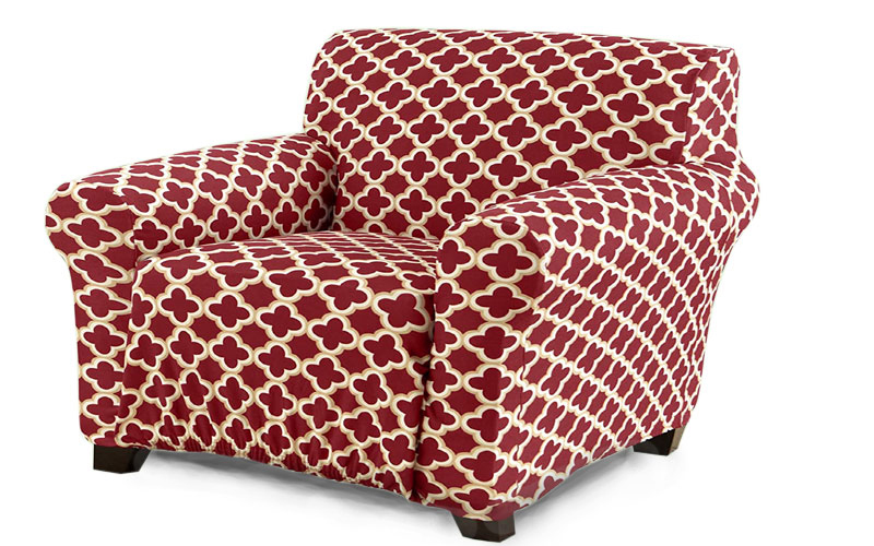 Home Fashion Designs Printed Twill Armchair Slipcover