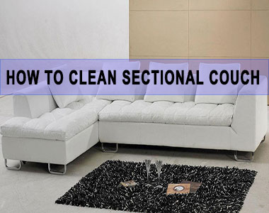 how to clean a sectional couch