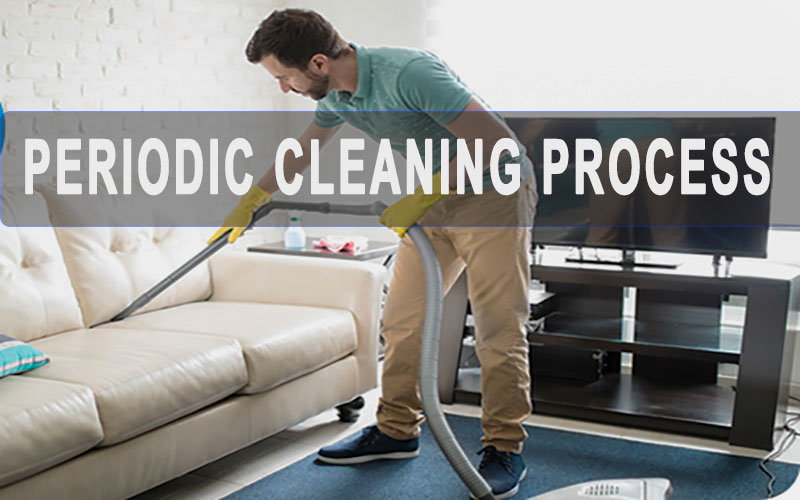 sectional couch periodic cleaning process