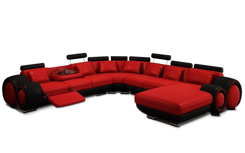 Bonded Reclining Sectional Sofa