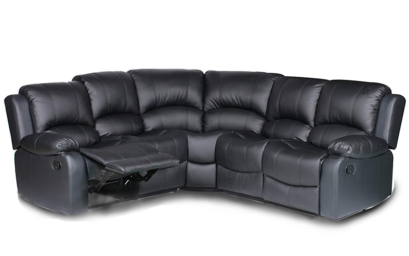 Divano Classic And Traditional Leather Reclining Sectional Sofa
