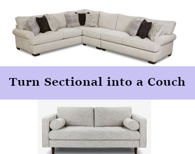 Turn sectional into a couch